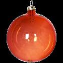 Weihnachtskugeln Set, 6 Kugeln Ø 8cm orange transparent, Thüringer Glas Weihnachtsschmuck