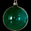 Weihnachtskugeln Set, 6 Kugeln Ø 8cm tanne transparent, Thüringer Glas Weihnachtsschmuck
