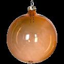 Weihnachtskugeln Set, 6 Kugeln Ø 8cm gold transparent, Thüringer Glas Weihnachtsschmuck