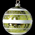 Weihnachtskugel Set Ø 8cm 6 St. / Box Welle Schatzhauser Thüringer Glas und Weihnachtsschmuck