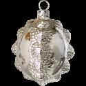 Glas Ornament Silberform 6,5cm Schatzhauser Thüringer Glas und Weihnachtsschmuck