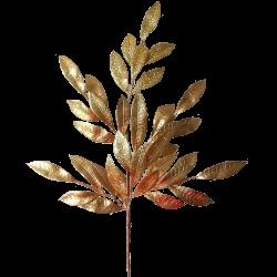 Blätter Zweig golden Glitzer 71cm - florale Fest- und Weihnachtsdeko