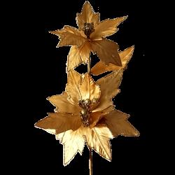 Weihnachtsstern Gold metallic 63cm - florale Fest- und Weihnachtsdeko