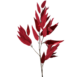Zweig Eukalyptus rot metallic 117cm - florale Fest- und Weihnachtsdeko