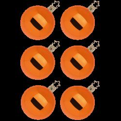 Christbaumkugeln Set, kürbis orange glänzend Ø 8cm Inge-Glas® Christbaumschmuck