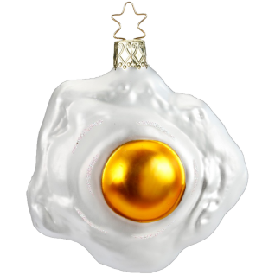 Spiegelei 8cm Inge-Glas® Köstlichkeiten Weihnachtsschmuck