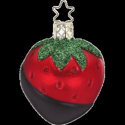 Erdbeere, Schokoerdbeere 6,5cm Inge-Glas® Köstlichkeiten Weihnachtsschmuck