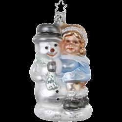 Frostiger Geselle 12,5cm Inge-Glas® Manufaktur Christbaumschmuck