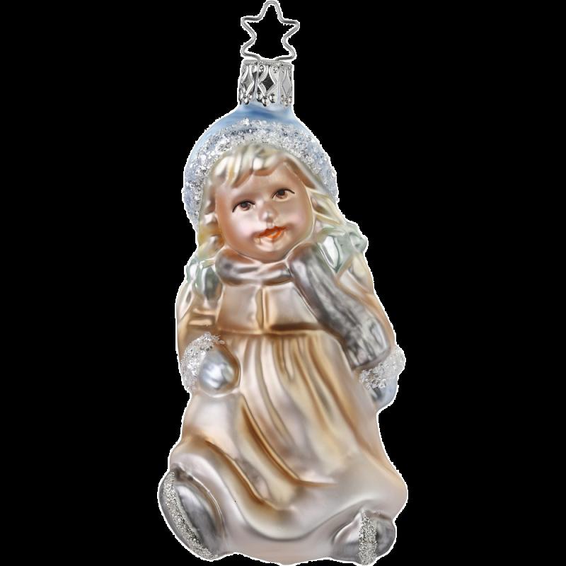 Kufen auf dem Eis 11,5cm Inge-Glas® Manufaktur Christbaumschmuck