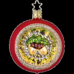 Weihnachtskugel Herbstfrüchte Ø 7cm Inge-Glas® Waldweihnacht Christbaumschmuck