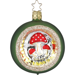 Weihnachtskugel Waldpilze Ø 7cm Inge-Glas® Waldweihnacht Christbaumschmuck