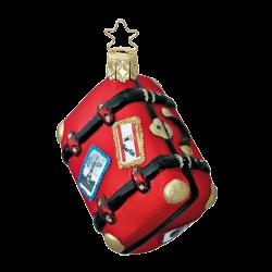 Gute Reise Koffer 8cm Weihnachtsträume Weihnachtsschmuck von Inge-Glas®