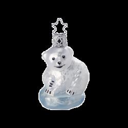 Baby Eisbär 6,5cm Inge-Glas Iceland Wonder World Weihnachtsschmuck