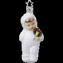 Glückskind Schneekind 11cm Inge-Glas Schneekinder Weihnachtsschmuck
