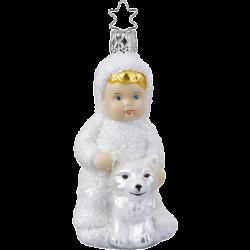 Begegnung im Schnee Schneekind 10,5cm Inge-Glas Weihnachtsschmuck
