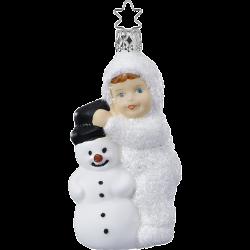 Mein Schneefreund Schneekind 10,5cm Inge-Glas Weihnachtsschmuck