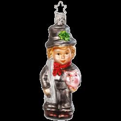 Glücksbringer Neujahrsglück 12cm Inge-Glas Weihnachtsschmuck