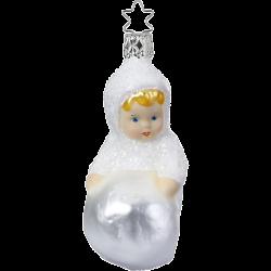 Mein erster Schneemann Schneekind 10,5cm Inge-Glas Weihnachtsschmuck