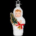Kling Glöckchen klingeling Schneekind 10,5cm Inge-Glas Weihnachtsschmuck