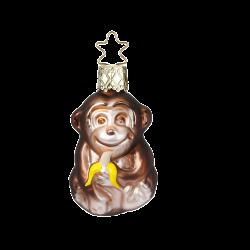 kleines Äffchen, Mini Affe 5,5cm Inge-Glas® Miniaturen Weihnachtsschmuck