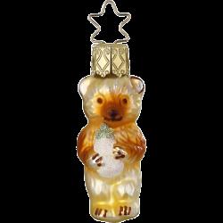 Bärchen, Mini Bär 6cm Inge-Glas® Miniaturen Weihnachtsschmuck