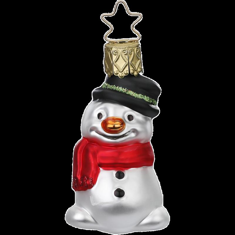 Schneemann, Mini Schneemann 6,5cm Inge-Glas® Miniaturen Weihnachtsschmuck