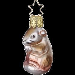 Mäuschen, Mini Maus 5,5cm Inge-Glas® Miniaturen Weihnachtsschmuck