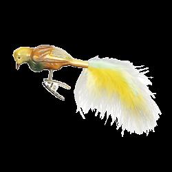 Paradies Vogel 8,5cm Vogelwelt Inge-Glas® Weihnachtsschmuck