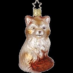 Fuchs 10cm Inge-Glas® Weihnachtsschmuck