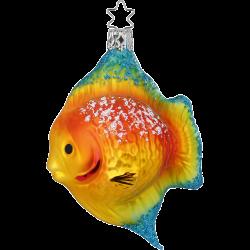 bunter Korallenfisch 11cm Inge-Glas® und Weihnachtsschmuck