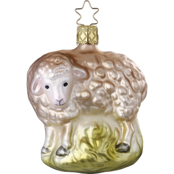 Schaf 8,5cm Inge-Glas® Manufaktur Weihnachtsschmuck