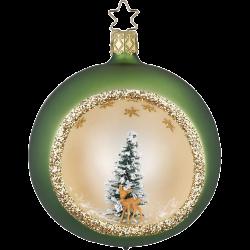 Weihnachtskugel im Wald Ø 8cm Inge-Glas® Waldweihnacht Christbaumschmuck