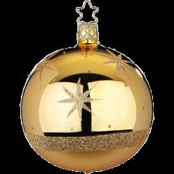 Christbaumkugel Sternenklar champagner Inge-Glas® Christbaumschmuck