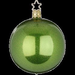 Christbaumkugel Sternenstaub minzgrün opal Ø 8cm Inge-Glas Weihnachtsschmuck