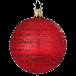 Christbaumkugel Raureif rot matt Ø 8cm Inge-Glas Weihnachtsschmuck
