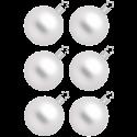 Christbaumkugeln silberweiß matt Ø 6-12cm Inge-Glas® Manufaktur Weihnachtskugeln