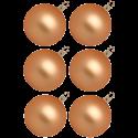 Christbaumkugeln toffee matt Ø 6 - Ø 10cm Inge-Glas® Manufaktur Weihnachtskugeln