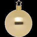 Christbaumkugeln gold metallic Ø 6 - Ø 10cm Inge-Glas® Manufaktur Weihnachtskugeln