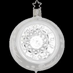 Spiegel Reflex traditionell silber Ø 8-10cm Inge-Glas® Weihnachtskugeln