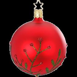 Christbaumkugel Wildblume rot matt Inge-Glas® Christbaumschmuck