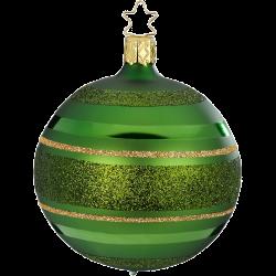 Christbaumkugel Ringe fichtengrün matt Inge-Glas® Christbaumschmuck