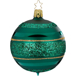 Christbaumkugel Ringe waldgrün matt Inge-Glas® Christbaumschmuck